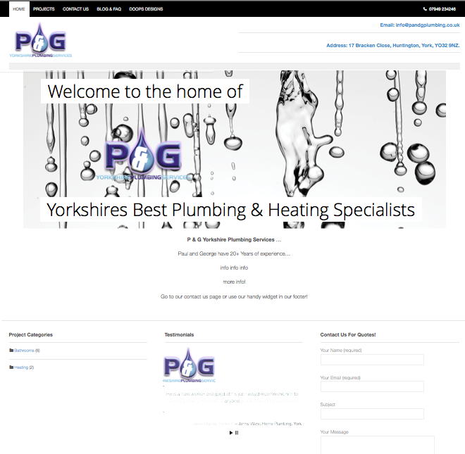 The Launch of P&G Yorkshire Plumbers